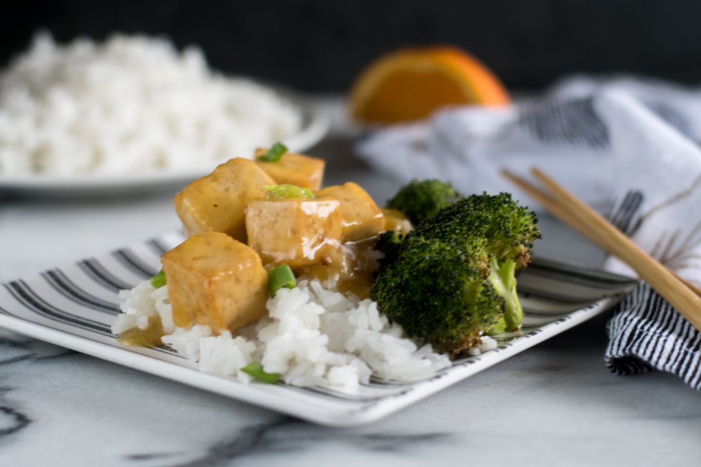 Vegan Orange Baked Tofu