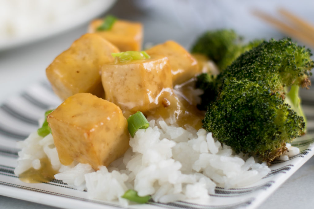 This easy and simple recipe for Vegan Orange Tofu is inspired by the popular Chinese dish. This vegan version is just as good as the original! This recipe is also gluten-free and oil-free