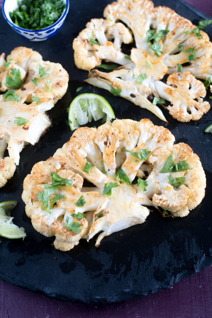 Chipotle Roasted Cauliflower Steaks