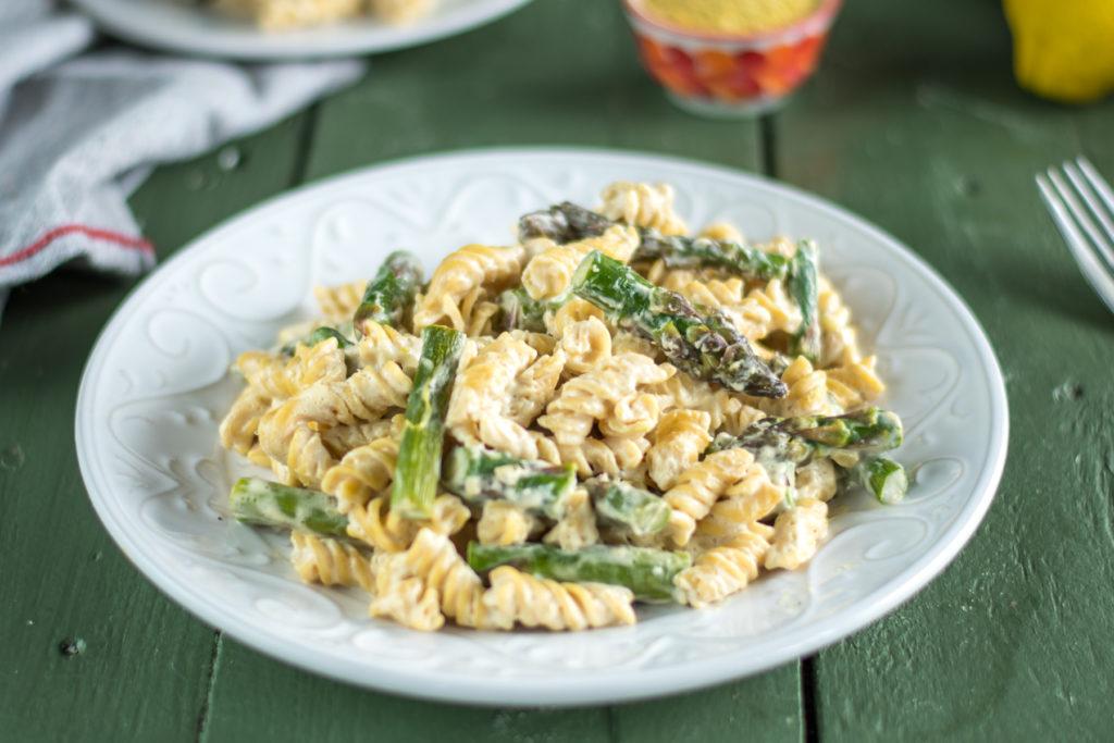 Creamy Vegan Asparagus Pasta