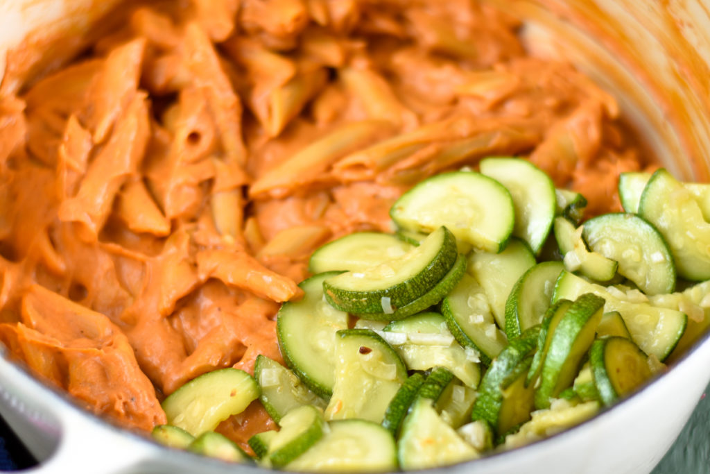 You are going to love how easy it is to make this creamy One Pot Vegan Chipotle Pasta!