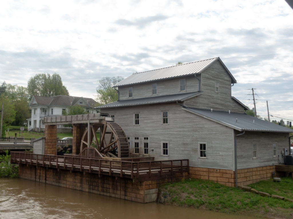 The current Jasper City Mill was completed in 2009 and is the third mill to occupy the side. In 1817, the first mill was constructed. The second mill was constructed in 1865 by the Eckert family and stood until 1964, when it was torn down due to flood damage.