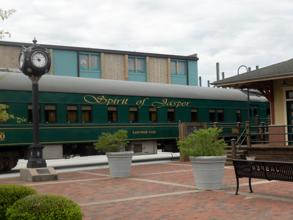 Take a ride on the restored Spirt of Jasper—a luxury passenger train that offers a variety of train excursions.