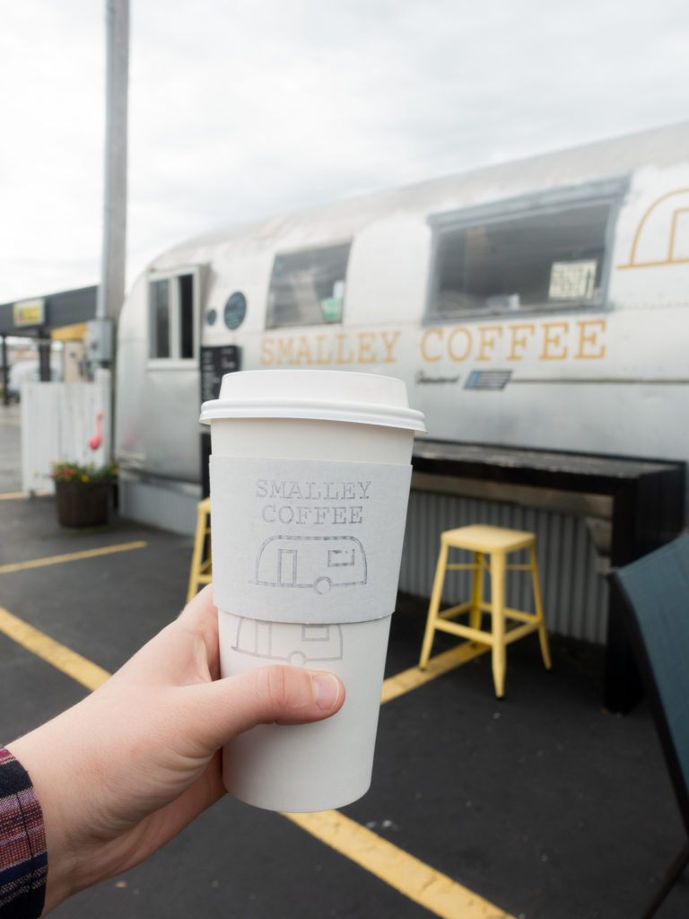 Start your morning off by grabbing a cup of coffee at Smalley Coffee. If I could a give a reward to the most unique coffee shop, it would have to go to Smalley Coffee—a coffee shop built inside a 1966 Airstream Overlander.  #coffee #travel #Midwest #travelguide