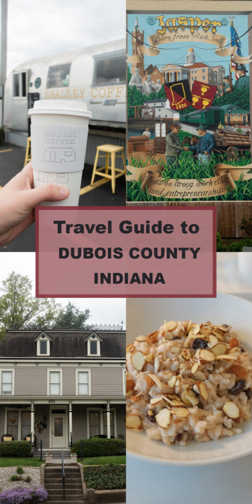 Planning a weekend getaway to Southern Indiana? You'll definitely want to visit Dubois County, Indiana. While visiting Dubois County, you'll be able to explore the rolling hills, picturesque towns, family-friendly festivals, and shopping. Whether you are a solo traveler, traveling with your family, or on a romantic getaway—Dubois County has something for everyone. #travel #Midwest #Indiana #USA #weekendgetaway #traveltps #smalltown #getaway