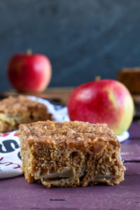 This light, fluffy Vegan Apple Cake topped with cinnamon sugar is the perfect cake for fall! #fall #food #dessert #apples #cake #veganrecipes