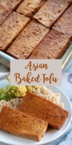 Tofu doesn't have to be bland and borning. Slices of tofu are baked in a sweet and tangy Asian ginger glaze. This glaze is a little sweet and sticky. #tofu #recipes #vegan #vegetarian #healthy #recipes #plantbased #Asian