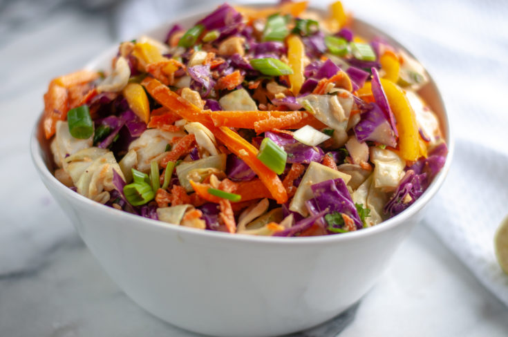 Healthy Asian Chopped Vegetable Salad