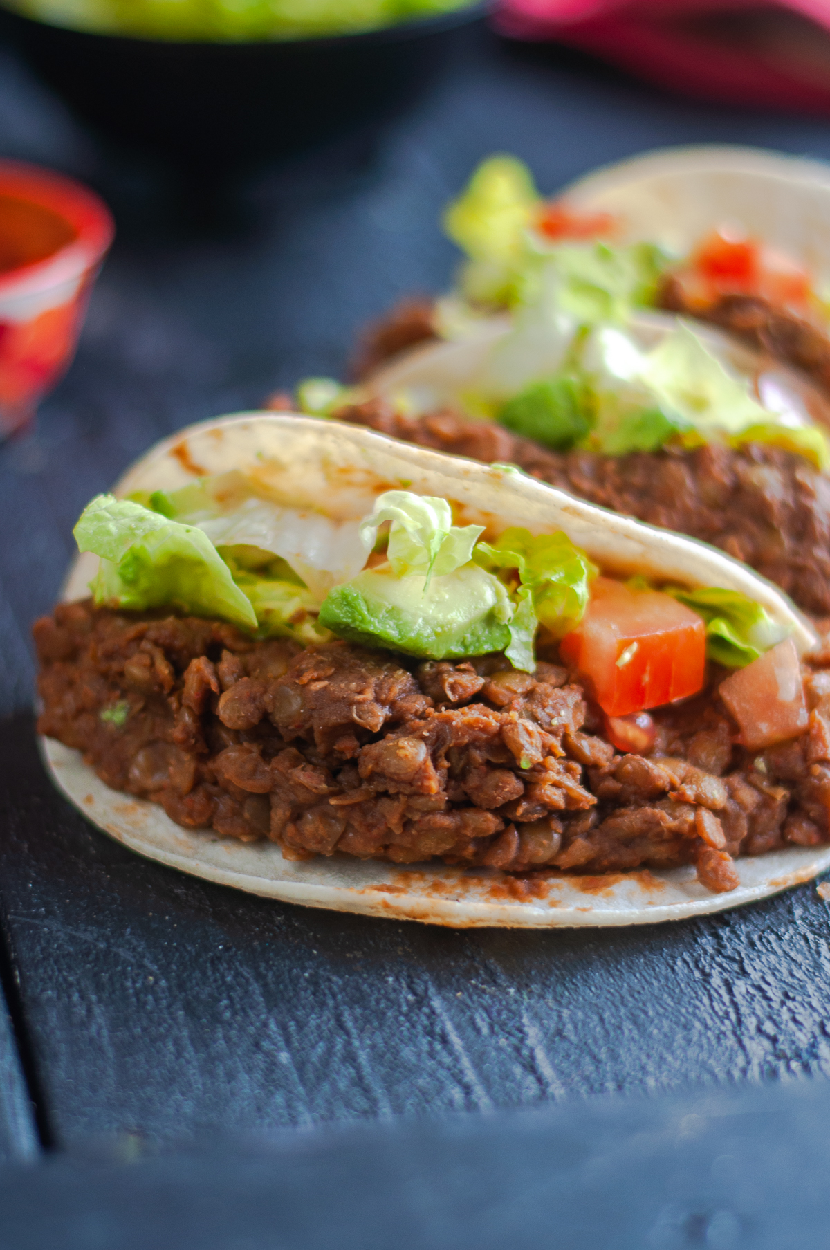 Instant Pot Lentil Tacos are a quick and easy weeknight dinner recipe!
