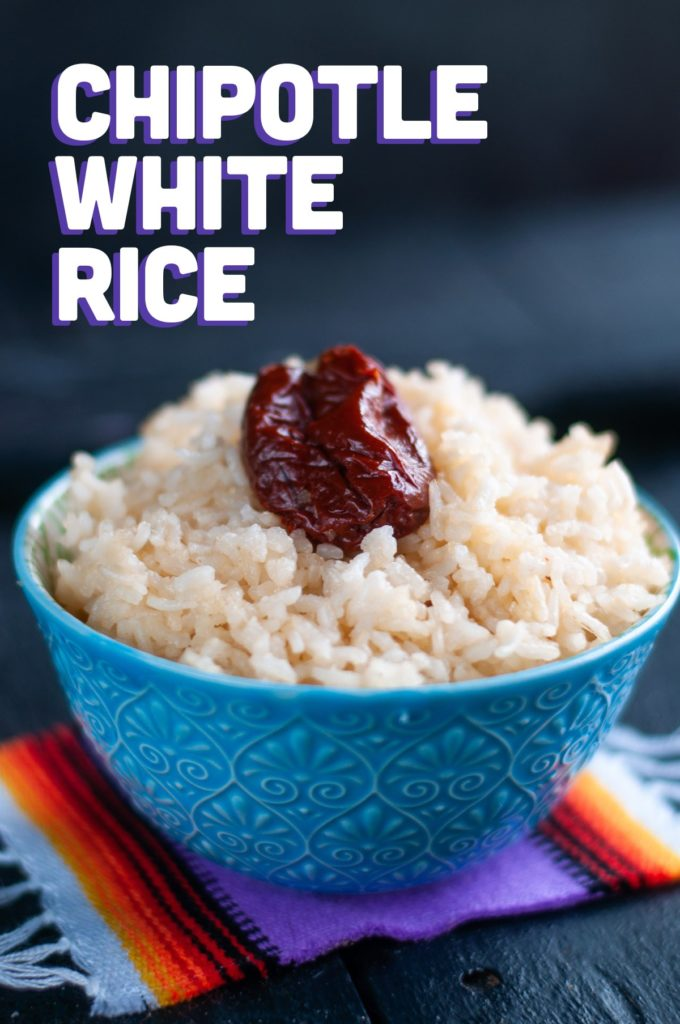Tired of plain steamed white rice? Give this Chipotle White Rice a try the next time that you make rice!  #rice #side #Mexican #Vegan #VeganMexican #glutenfree #food #recipe