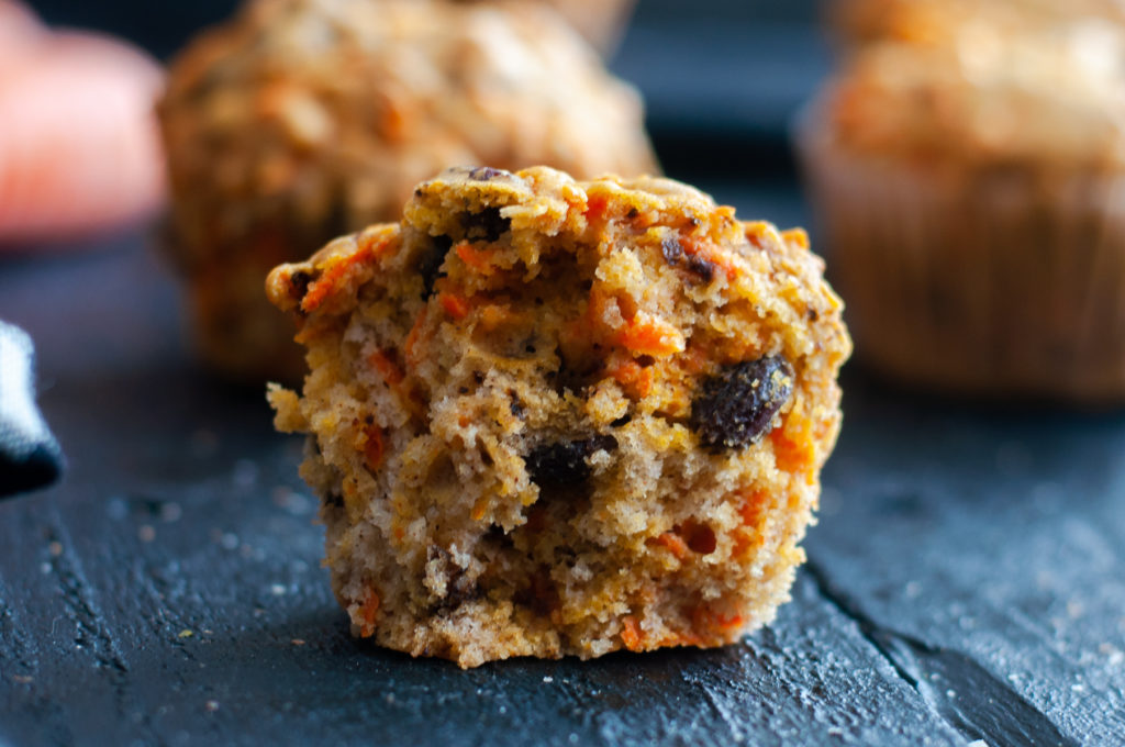 Start your morning off with a carrot raisin muffin! #muffin #recipe #breakfast #vegan