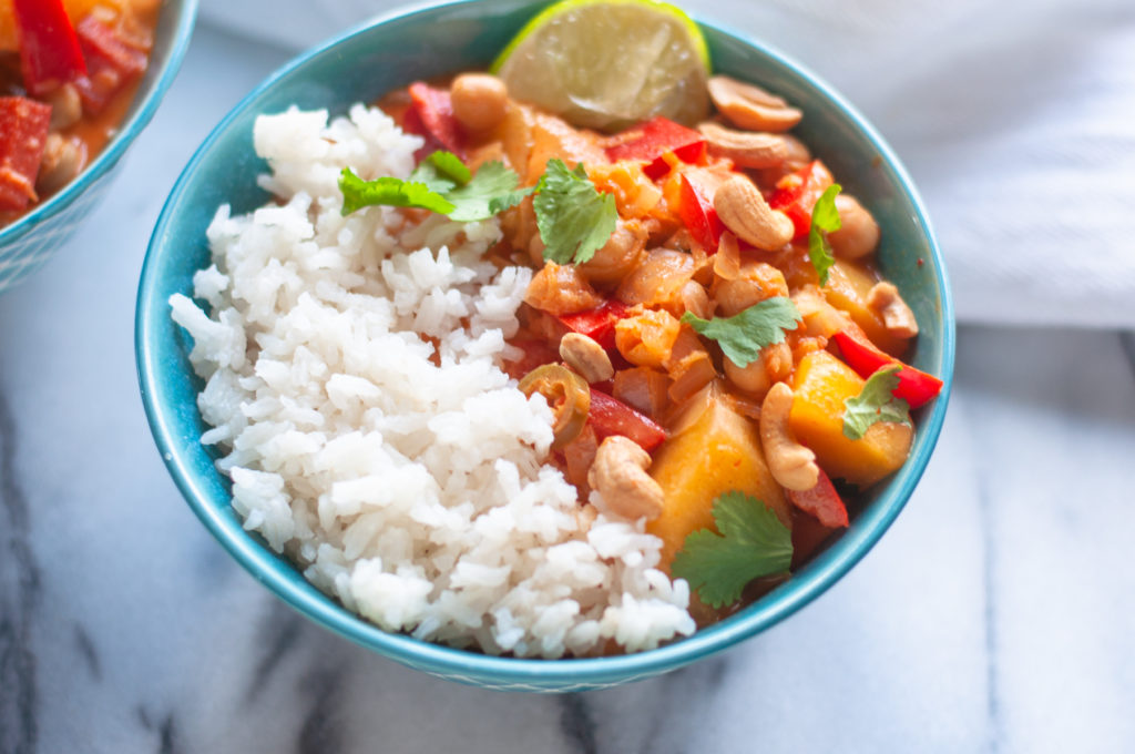 Infused with bright aromatics, this Thai Mango Curry is packed with flavor and perfect for an easy weeknight dinner.