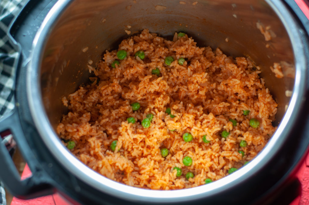 It is so easy to make this Instant Pot Mexican Red Rice! This is the perfect side dish to any Mexican inspired meal!