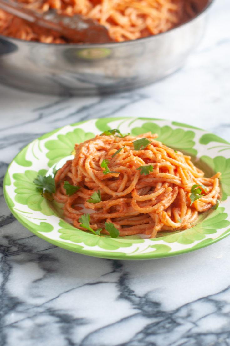 Vegan Chipotle Spaghetti