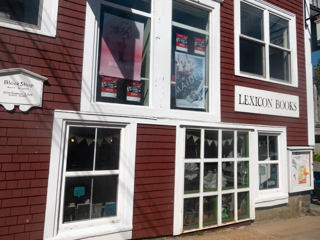 Shop at one of three local bookstores in Lunenburg, Nova Scotia.