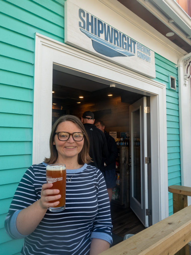 Shipwright Brewing, celebrates Lunenburg's shipbuilding heritage. The brewery offers small batch brews and a great atmosphere.