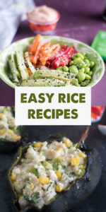 Is your pantry stocked with rice, but you're not quite sure what to make with it? This round-up of 20 Easy Rice Recipes for Dinner, will show you 20 tasty rice dishes that are easy to make! #rice #vegan #vegetarian #food #dinner #ricerecipes #pantry #pantrystaples #healthy #plantbased #wholefoods #budgetfriendly #glutenfree