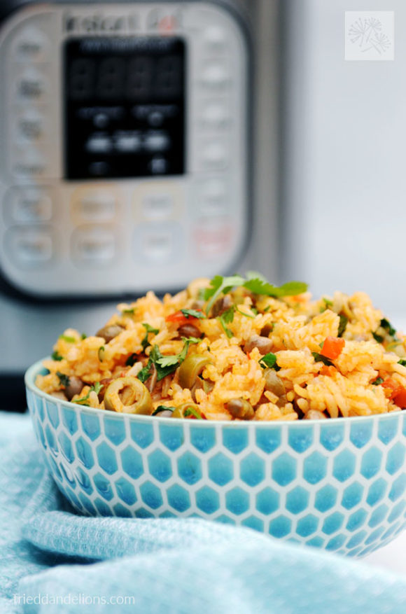Instant Pot Arroz con Gandules are a quick and complete weeknight meal! Using pantry staples, you'll have this dinner on the table in just a half hour!