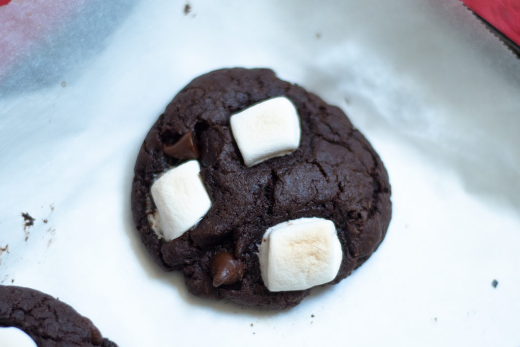 These Vegan Chocolate Marshmallow Cookies will satisfy any chocolate craving. They are fudgy, chewy, and easy to make!