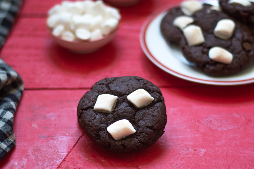 If you love chocolate and marshmallows, you are just going to love these cookies!
