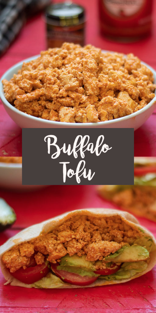 Tofu doesn't have to be boring! You only need a few ingredients to make this flavor packed Buffalo Tofu recipe! This tofu is great for meal prepping because it just gets more flavorful as it sits in the fridge! It makes a delicious sandwich filling! #vegan #tofu #vegetarian #buffalo #veganrecipes #mealprep #food