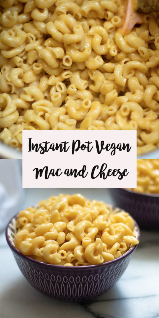 Creamy, decedent Instant Pot Vegan Mac and Cheese couldn't be easier to make! It is so easy to make pasta in the Instant Pot! #Vegan #InstantPot #recipes #pasta #dairyfree #kidfriendly #lunch #easyrecipes #veganrecipes #dinner