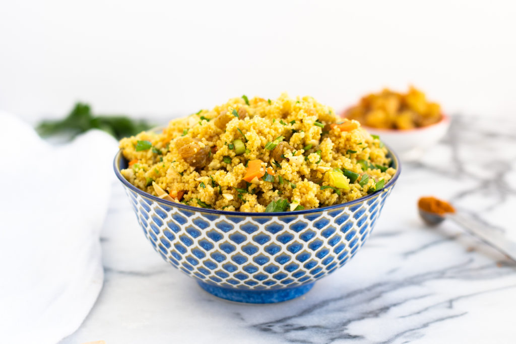 Quick to prepare, this Curried Couscous is a healthy side dish with a homemade curry dressing. Couscous takes just minutes to prepare and is delicious!