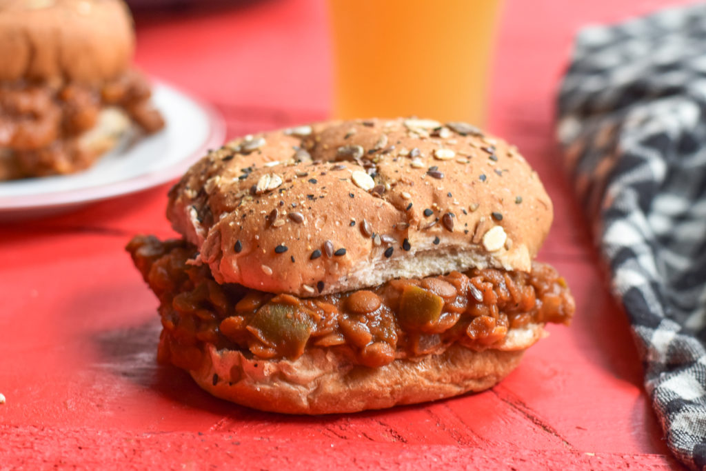 These Slow Cooker Lentil Sloppy Joes have all the same flavor of the classic American recipe without any of the meat. These sloppy joes will satisfy both plant eaters and meat eaters. It's a great crowd pleaser!