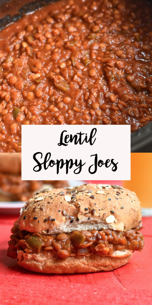 These Slow Cooker Lentil Sloppy Joes are a plant-based version of the classic recipe we all know and love. This budget friendly meal is a crowd pleaser! #vegan #slowcooker #crockpot #lentils #sloppyjoes #dinner #easyrecipes #plantbased #wholefoods #oilfree