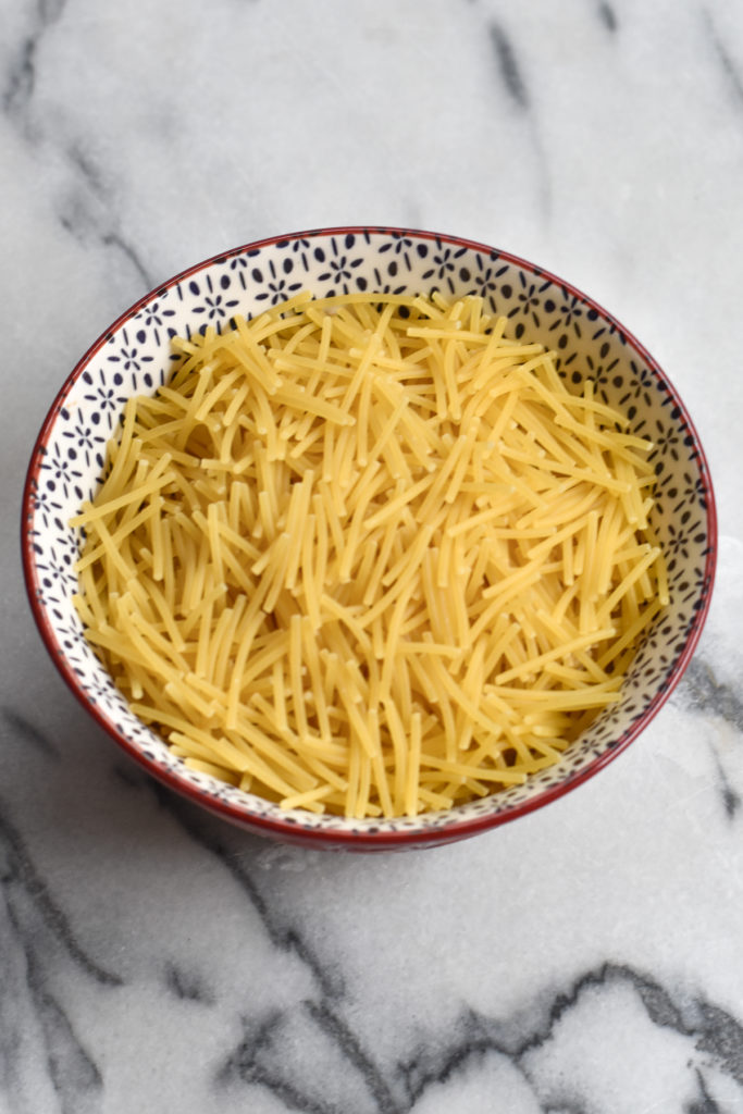 fideo noodles, they are a thin Mexican noodle similar to vermicelli, angel hair or thin spaghetti. Very popular in Mexican cooking