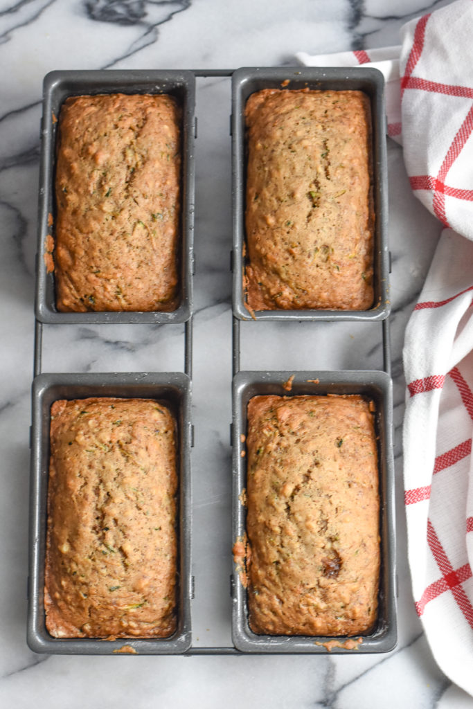Quick and easy Zucchini Mini Loaves make the perfect gift.