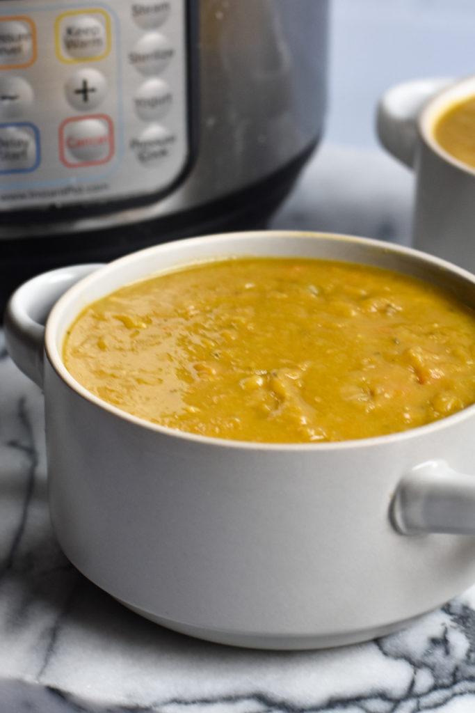 Vegan Spilt Pea Soup is a super nutritious soup that is budget-friendly!
