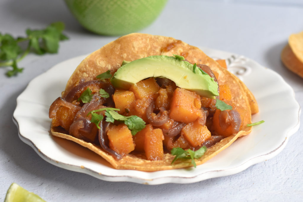 Switch up taco night with this easy winter Squash Taco recipe!