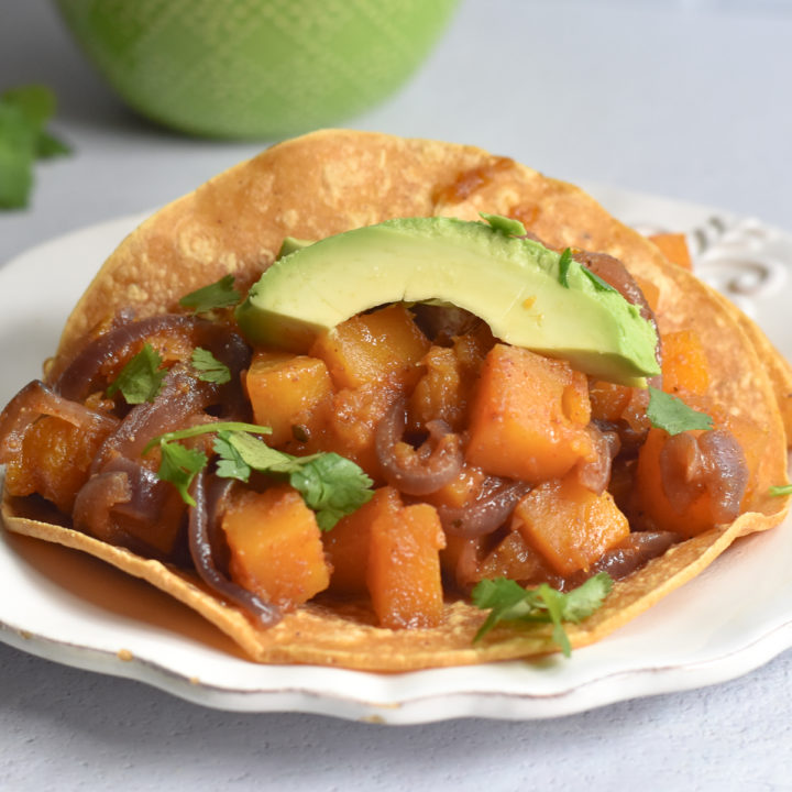 Switch up taco night with this easy Butternut Squash Taco recipe!