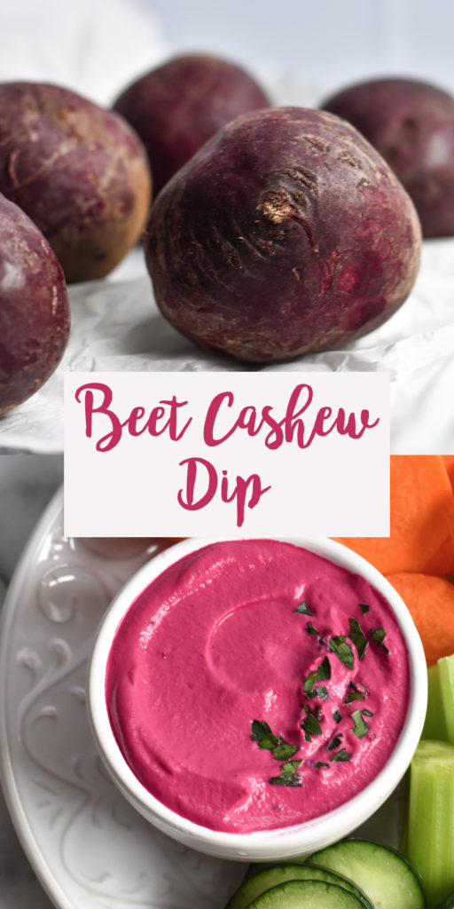 Ultra creamy dairy-free Beet Cashew Dip is the perfect vehicle for dipping! It's light, healthy and delicious! #dip #beets #whole30 #veganuary #vegan #recipes #snack #healthy