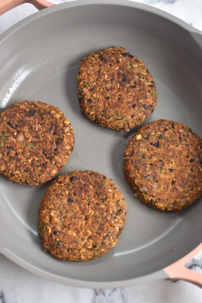 Easy black bean burger recipe that is vegan too!