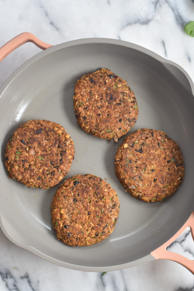 Hearty, protein packed vegan burger take less than 30 minutes to make.