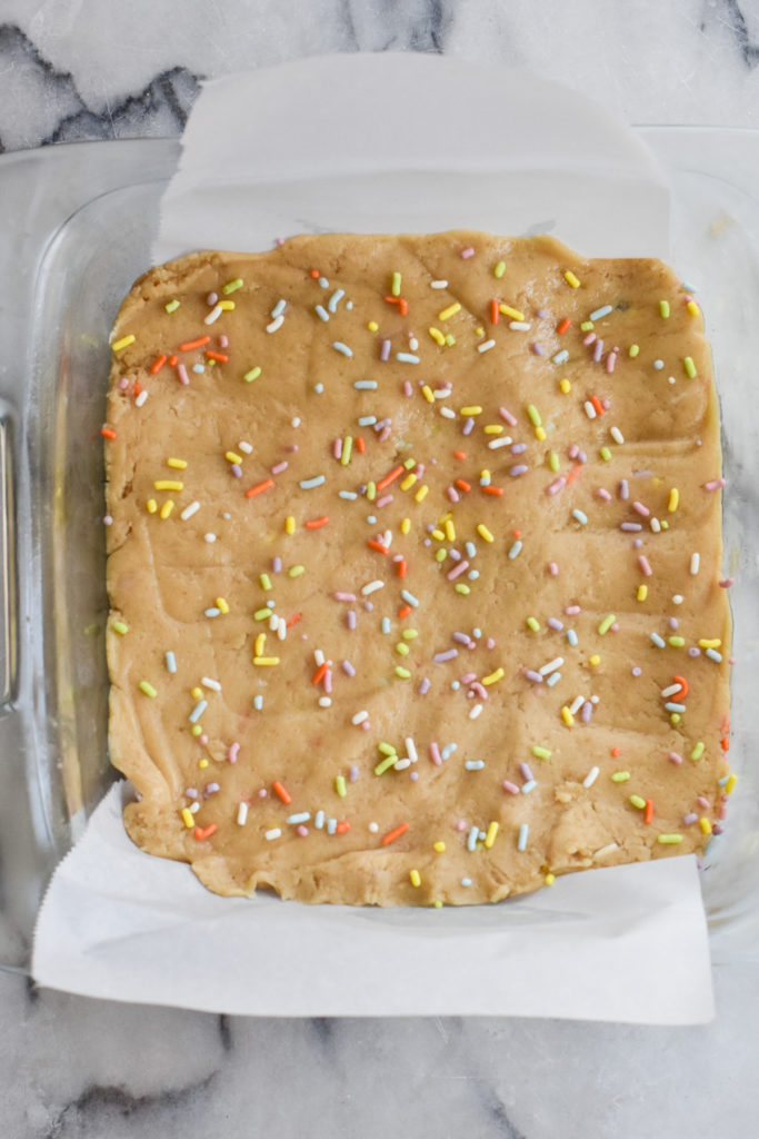These funfetti blondies are easy to make and kids will love them. Adults will too!