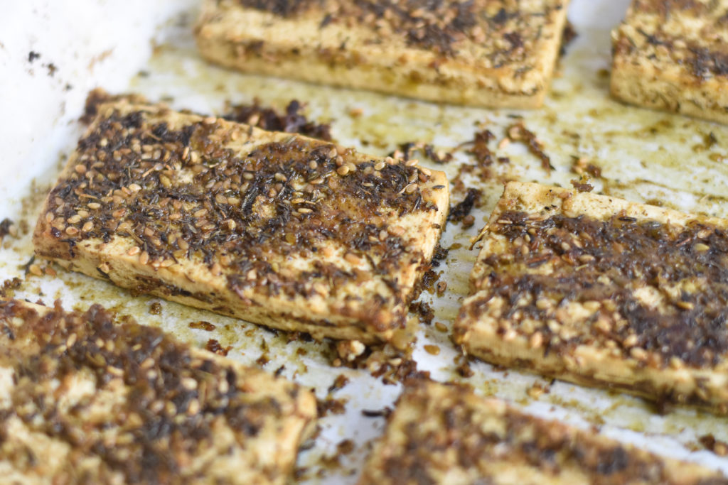 Tofu doesn't have to be boring. Marinating the tofu and then baking it adds so much flavor.