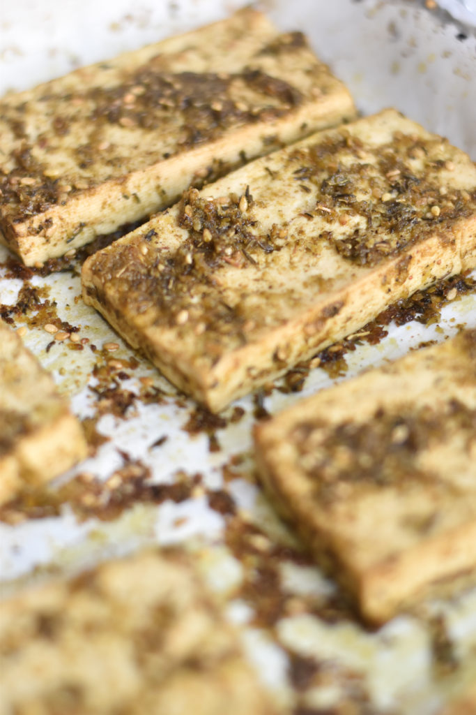 Baked Za'atar Tofu is a flavor tofu recipe that is bright, light and easy to make.