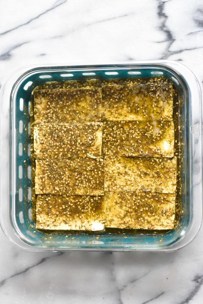How to marinate tofu.