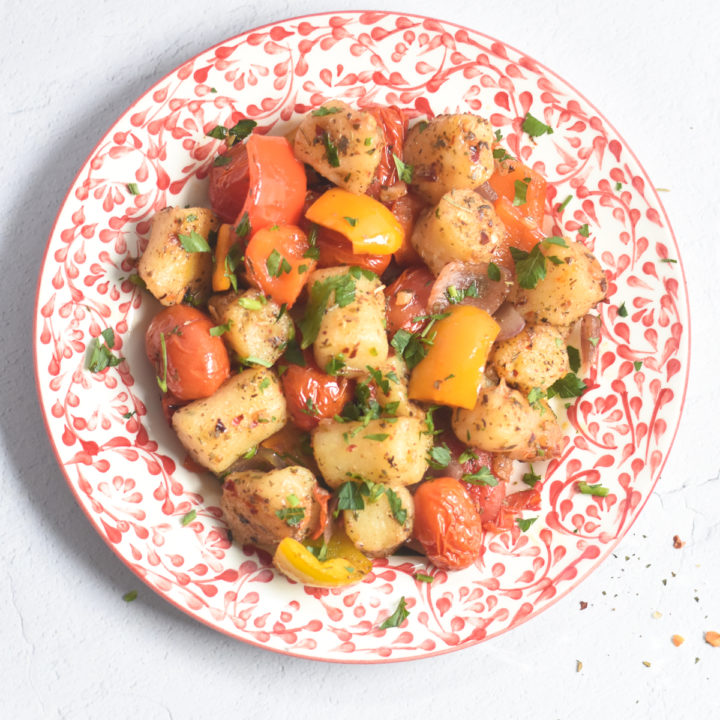 Sheet Pan Cauliflower Gnocchi and Roasted Vegetables