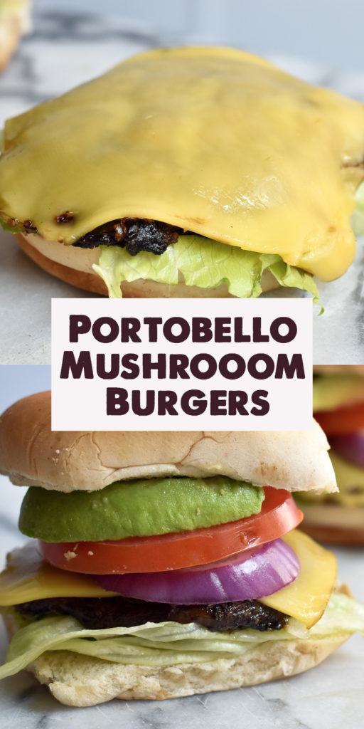 Whether your vegan, vegetarian or an omnivore, these portobello mushroom burgers are a great meatless burger option. #vegan #mushroom #burgers #grilling #BBQ