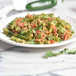 Quick and easy to make, Mexican Green Beans is a vibrant side dish perfect for your next Mexican inspired meal.