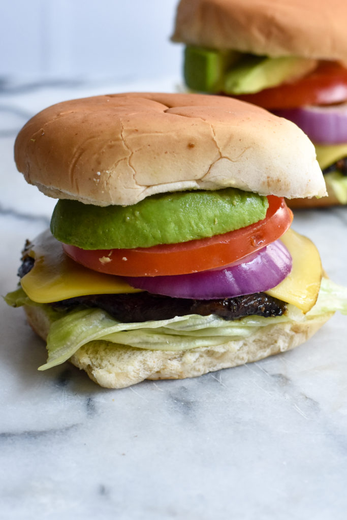 These Vegan Portobello Mushroom Burgers are an easy meat alternative burger that both vegans and meat eaters will enjoy!