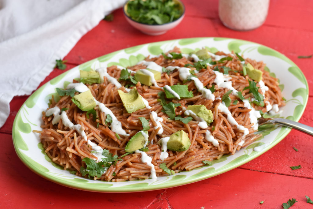 Sopa Seca de Fideo is a very popular Mexican noodle dish that is easy to make. It is also very kid-friendly!