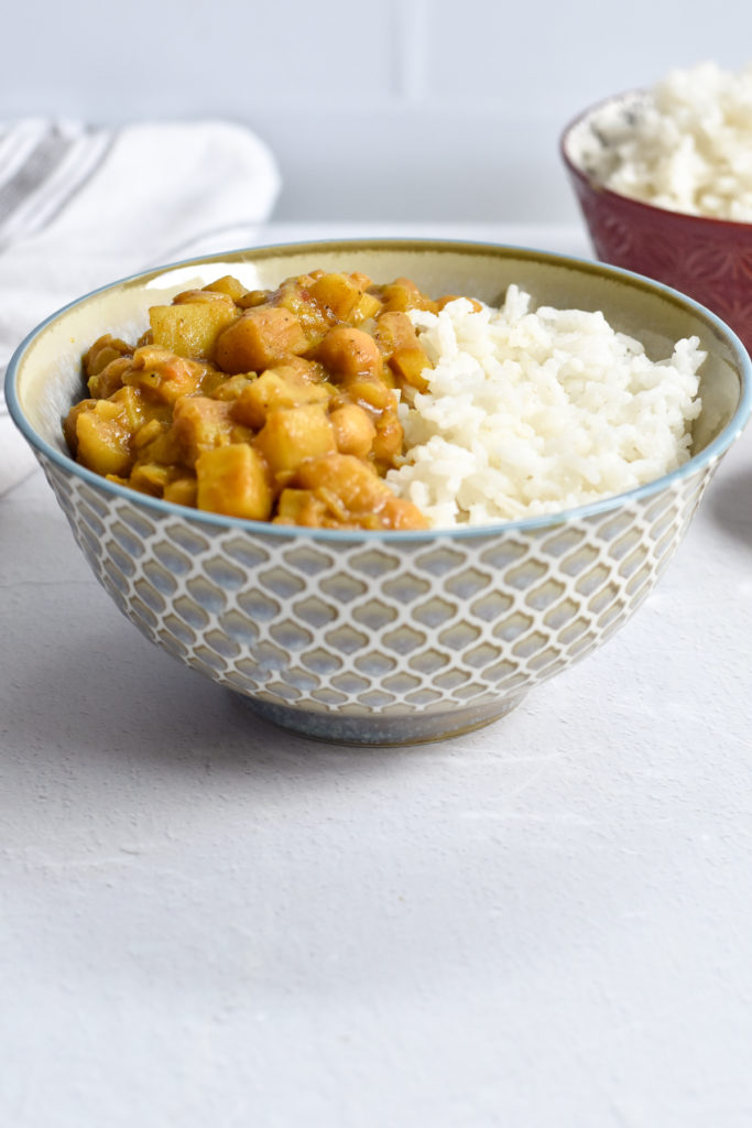 Vegan Potato and Chickpea Curry is a flavorful, dinner recipe packed with flavor.