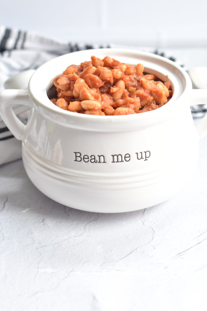 this baked bean recipe is that the beans are cooked right on the grill!