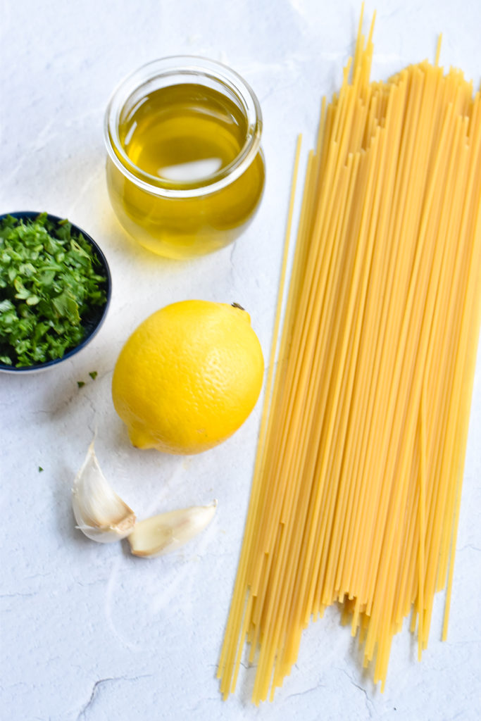 You only need a few simple ingredients to make this easy lemon pasta recipe.