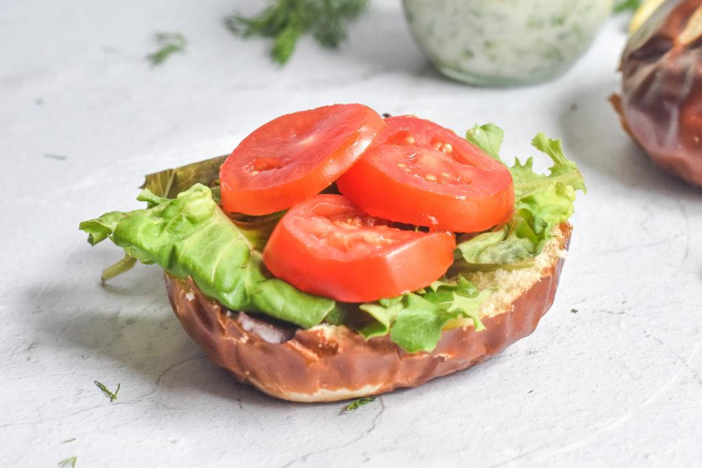 Quick and easy vegan burgers.